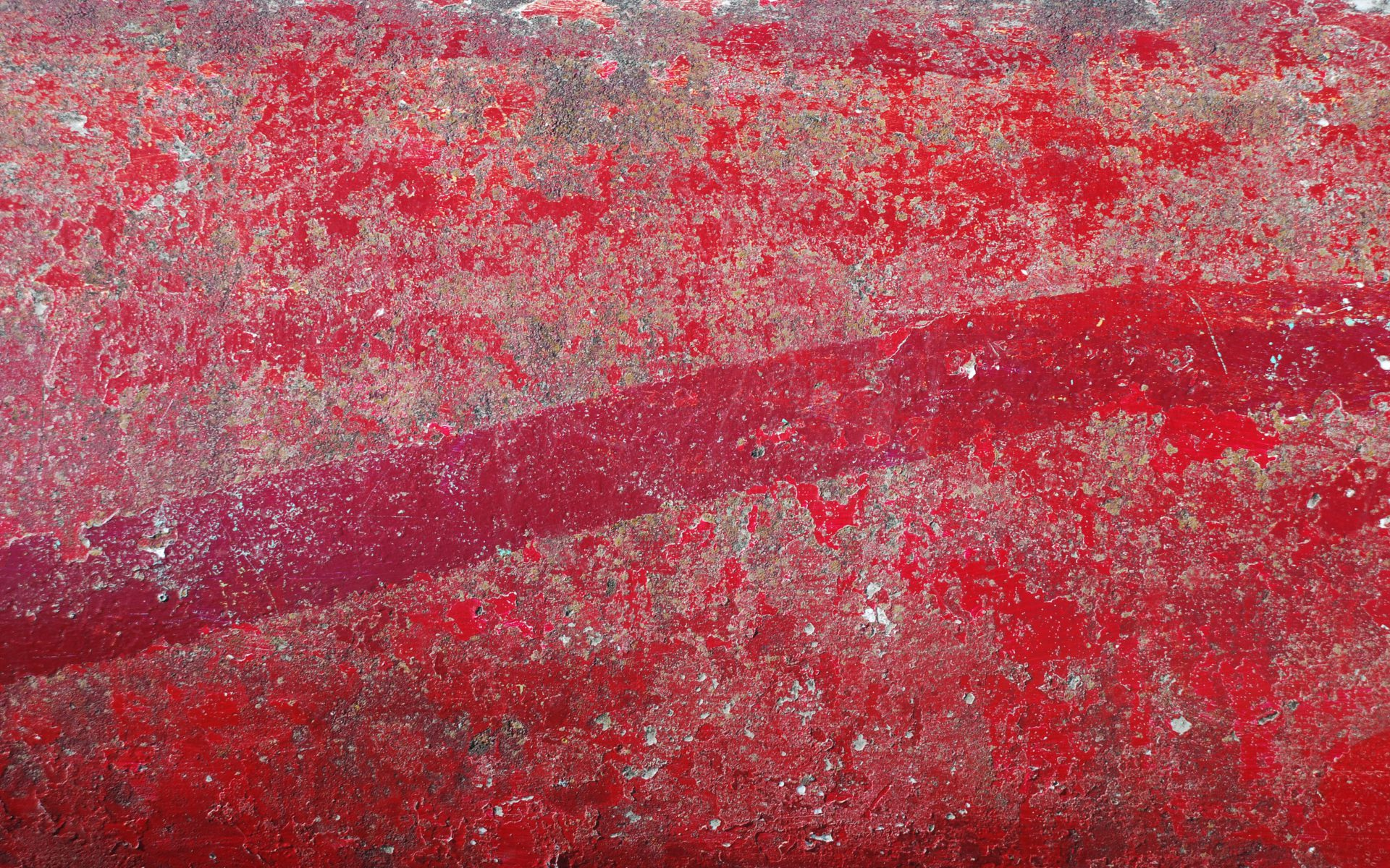 Side Door BBQ red distressed concrete floor Interior styling by DIFFER