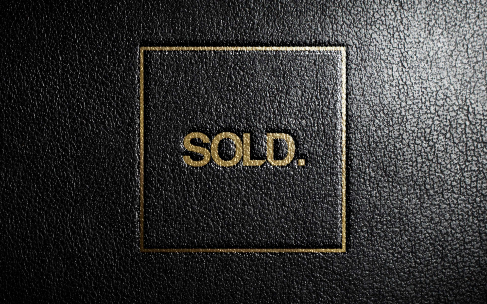 SOLD property development gold and black brand logo and creative by DIFFER