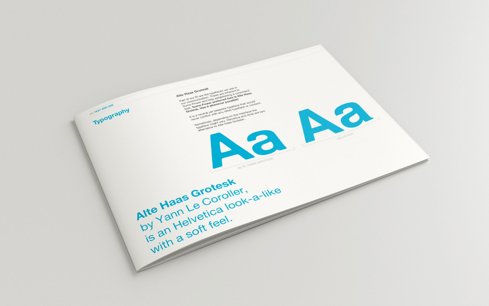 Sumo Power brand style guide Alte Haas Grotesk