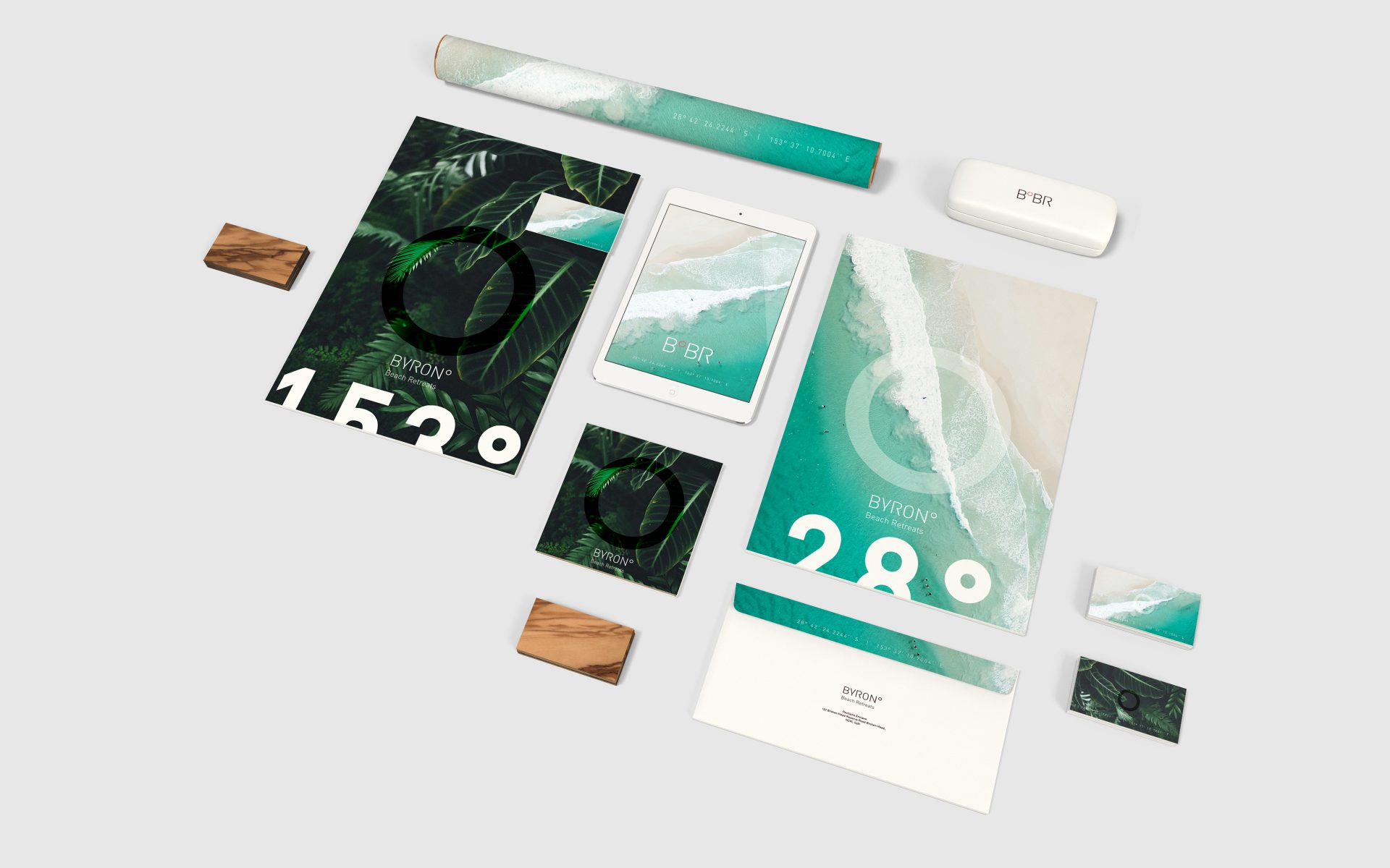Byron Beach Retreats branded corporate stationery