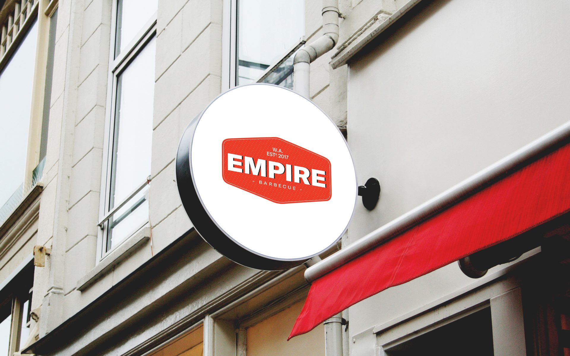 Empire BBQ brand logo on outdoor signage