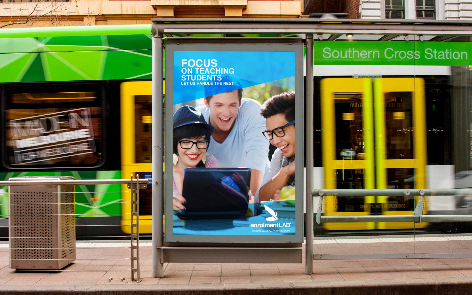 Enrolment LAB brand by Differ outdoor advertising