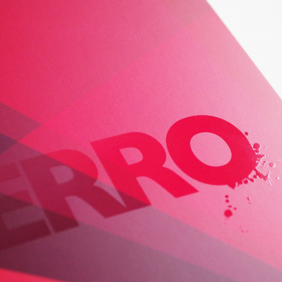 Lupo Perro brand corporate stationery with spot UV by Differ