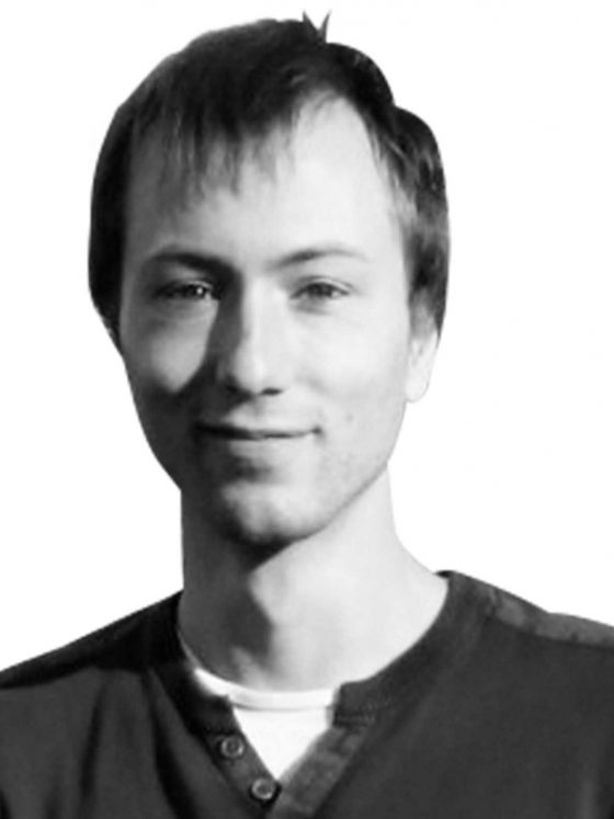 Differ lead developer greyscale portrait