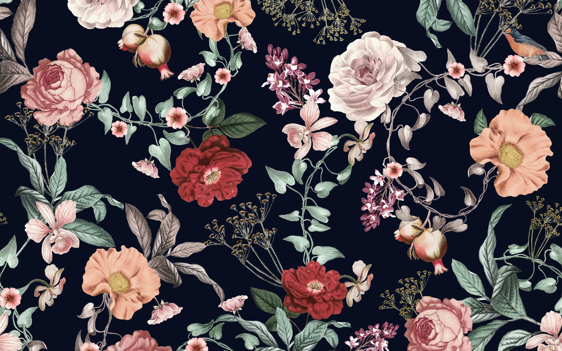 Alulu red and pink floral pattern